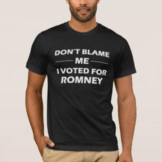 Camiseta Eu votei para o t-shirt de Romney