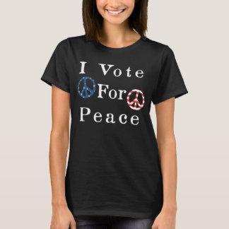 Camiseta Eu voto para a paz
