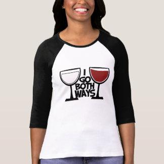 Camiseta Eu vou humor do bebedor do vinho de ambas as
