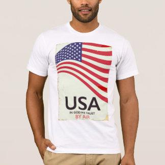 """Camiseta EUA """"no deus nós confiamos"""" o poster vintage"""