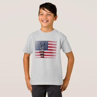Camiseta EUA T-shirt Hanes TAGLESS® para criança., Cinza
