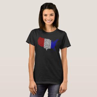 Camiseta EUA tipográficos no vermelho, no branco e no azul