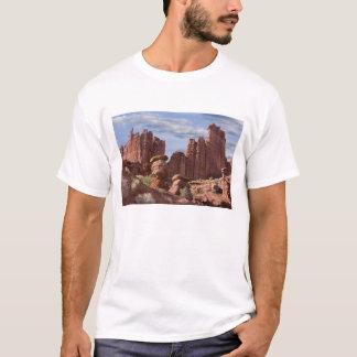 Camiseta EUA, Utá. Vista de torres de Fisher. Crédito como: