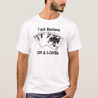 Camiseta Euchred em um SOLITÁRIO