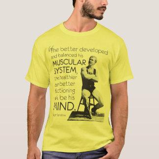 Camiseta Eugen Sandow - força do corpo - força da mente