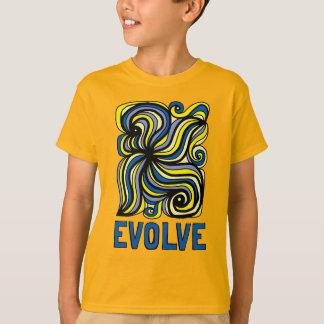 """Camiseta """"Evolua"""" o t-shirt do Hanes TAGLESS® dos miúdos"""