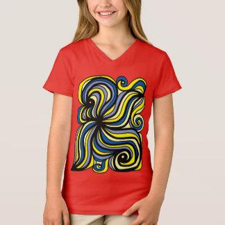 """Camiseta """"Evolua"""" o t-shirt do V-Pescoço das meninas"""