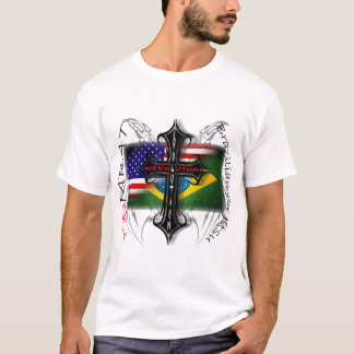 Camiseta Evolução de Jiu Jitsu do brasileiro + Cruz da