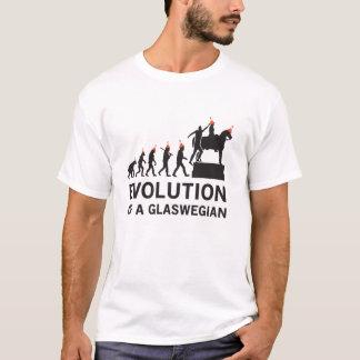 Camiseta Evolução de um Tshirt de Glaswegian (Glasgow)