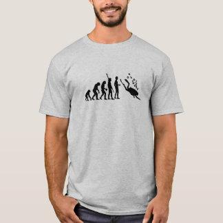 Camiseta Evolução do logotipo do mergulho autónomo