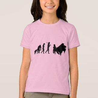 Camiseta Evolução do pianista das crianças da arte da