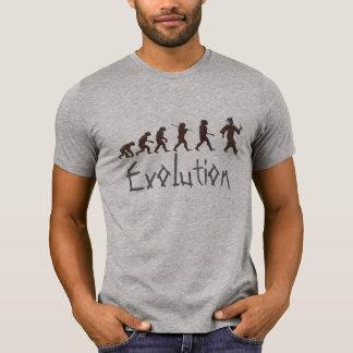 Camiseta evolução do t-shirt engraçado da graduação da