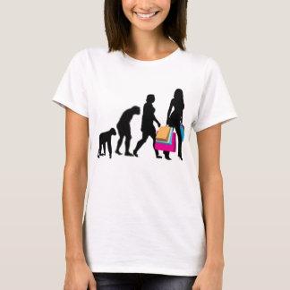 Camiseta Evolução do tshirt da diva da compra da mulher