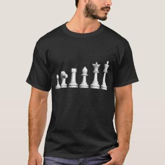 Camiseta Evolução do TShirt da obscuridade da xadrez