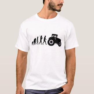 Camiseta Evolução dos fazendeiros de cultivar motoristas do
