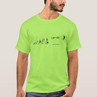 Camiseta evolução dos homens que kiteboarding