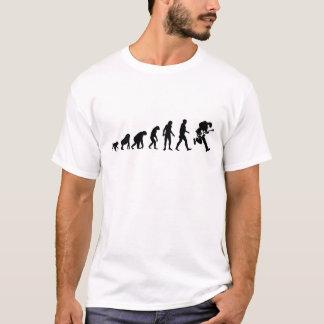 Camiseta Evolução humana: Estrela do rock