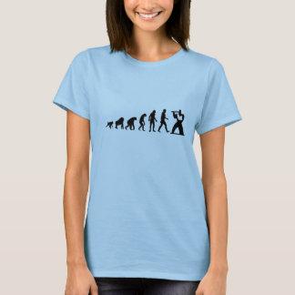 Camiseta Evolução humana: T-shirt moderno da flauta