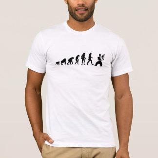 Camiseta Evolução humana: Violinista moderno