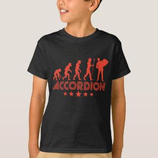 Camiseta Evolução retro do acordeão