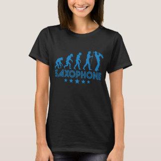 Camiseta Evolução retro do saxofone