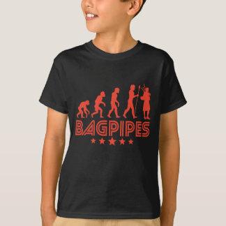 Camiseta Evolução retro dos Bagpipes
