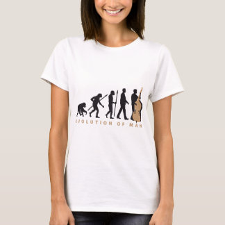 Camiseta evolution double bass player