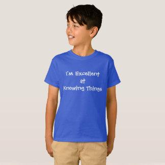 Camiseta Excelente em saber coisas