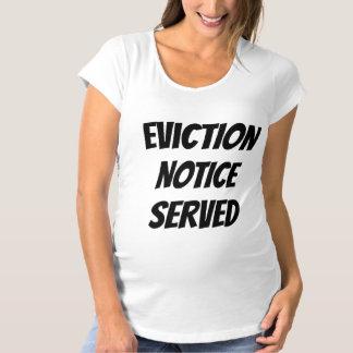 Camiseta Exclusão cómico bebê servido observado da gravidez