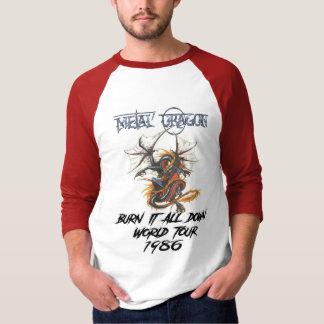 Camiseta Excursão 1986 do mundo do dragão do metal