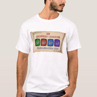 """Camiseta Excursão de Chaucer """"Feudalpalooza"""" 1392 (a luz"""