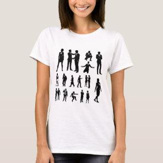 Camiseta Executivos das silhuetas
