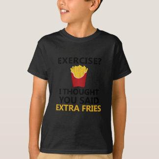 Camiseta EXERCÍCIO que eu pensei que você disse fritadas do