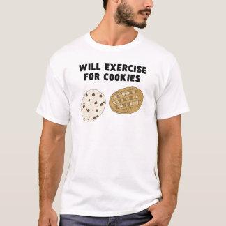 Camiseta Exercitará para biscoitos