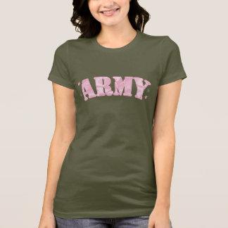 Camiseta Exército Camo cor-de-rosa