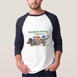 Camiseta Exército de Basset Hound - Jetpack, pop art por