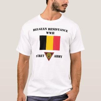 Camiseta Exército do segredo da resistência de Bélgica