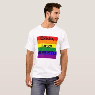 Camiseta Existo, #RESISTO do luego