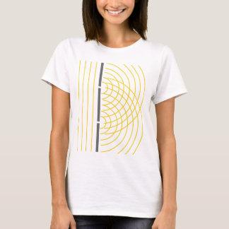 Camiseta Experiência da ciência da partícula da onda clara