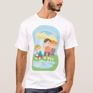 Camiseta Experiência da ciência no t-shirt dos homens da