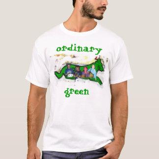 Camiseta experimente a experiência verde ordinária