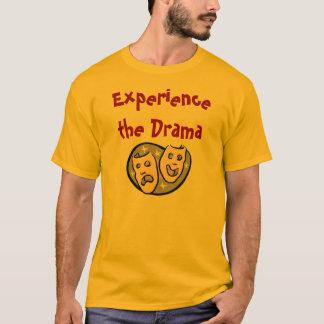 Camiseta Experimente o drama com KBP sobre para trás