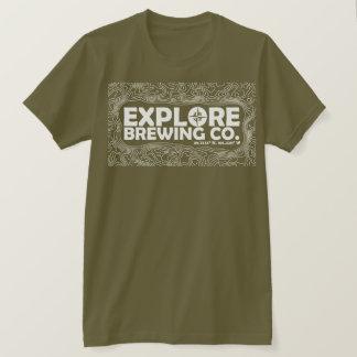 Camiseta Explore a fabricação de cerveja (o impressão