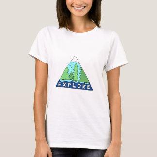 Camiseta Explore montanhas da região selvagem da natureza
