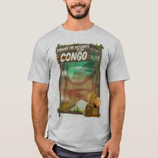 Camiseta Explore os pantanais do Congo