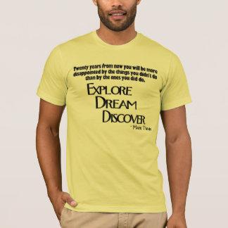 Camiseta Explore, sonhe & descubra o t-shirt