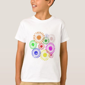Camiseta Explosão afligida da flor