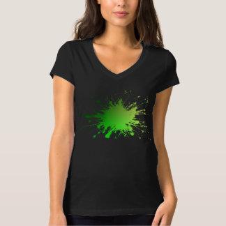 Camiseta Explosão da cor verde. Ts. frescos