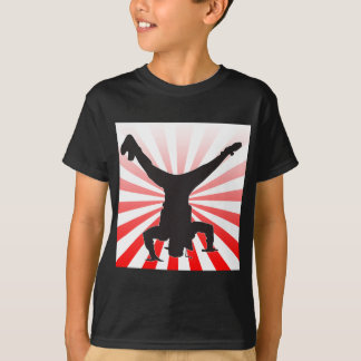 Camiseta explosão da dança de ruptura