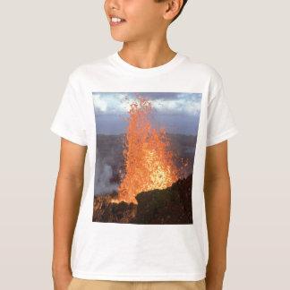 Camiseta explosão do vulcão da lava